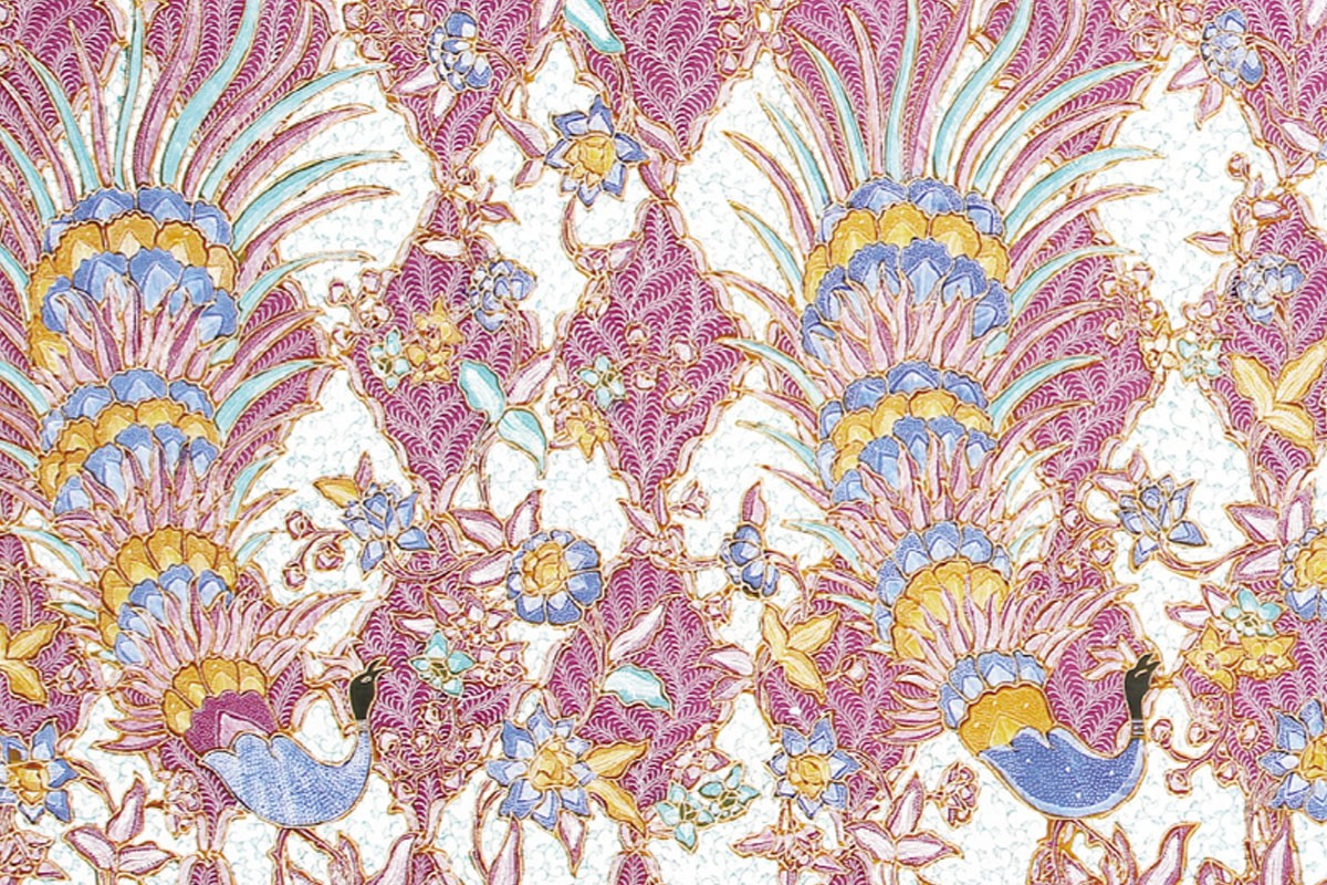 Batik Kudus Motif Merak Catleya